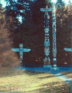 Totem Poles in Stanley Park-